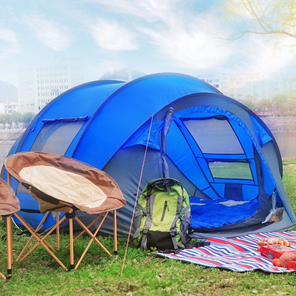 & HUI LINGYANG throw tent outdoor automatic tents throwing pop up waterproof camping hiking tent waterproof large family tents