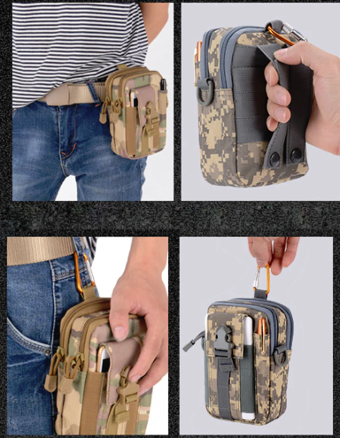 Camping Outdoor Hiking Military Molle Pouch Wallet Tactical Waist Pack Belt Bag